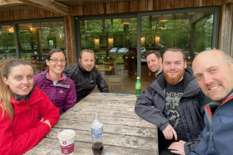 The A Digital team at Sizergh Castle cafe