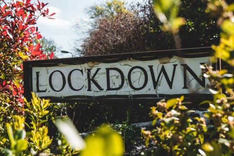 Lockdown street name sign